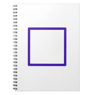 Blue Squared Spiral Notebook