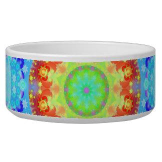 Blue Star Hippy Mandala Patterned Dog Water Bowl