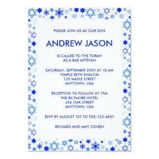 Blue Star of David Bar Mitzvah Bat Mitzvah Card