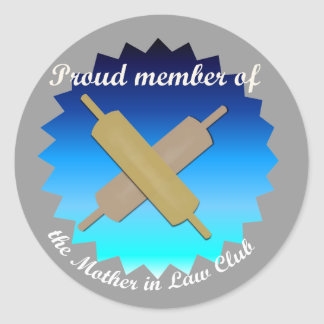 Blue Star - Proud Member of the Mother in Law Club Round Sticker