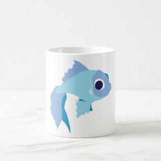 Blue Staring Fish Basic White Mug