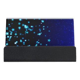 Blue Stars - Desk Business Card Holder