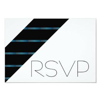 Blue stripe RSVP 9 Cm X 13 Cm Invitation Card