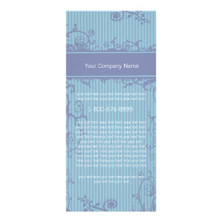 Blue Striped Rack Card Swirl Label