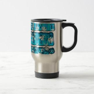 Blue stylish vintage Zombi  Design Hakuna Matata K Stainless Steel Travel Mug