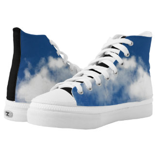 Blue Sunny Sky White Cloud Weather High Top Shoes
