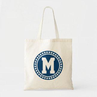 Blue Superstar Monogram Tote Bag