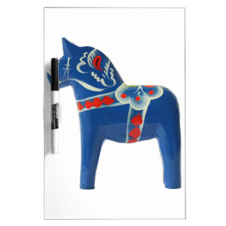 Blue Swedish Dala Horse Dry Erase Board