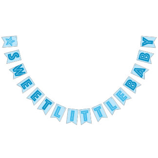 BLUE ☆ SWEET LITTLE BABY ☆ BOY SIGN BUNTING