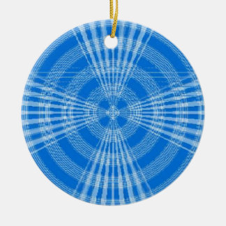 Blue Swirl Christmas Ornament