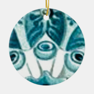 blue swirl pattern christmas ornament
