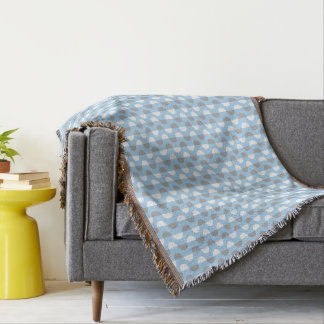 Blue Swirl Patterned Throw Blanket