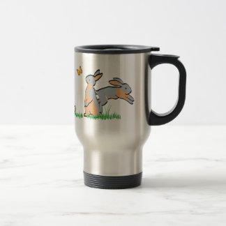 BLUE TANS IN THE GRASS STAINLESS STEEL TRAVEL MUG