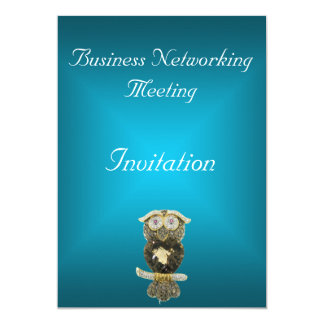 Blue Teal Business Meeting Invitation Change Logo