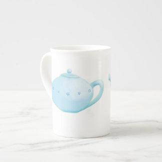 Blue teapot China mug