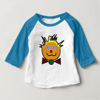 "Blue tee-shirt for baby, raglan sleeves, ""Clown "" Baby T-Shirt"