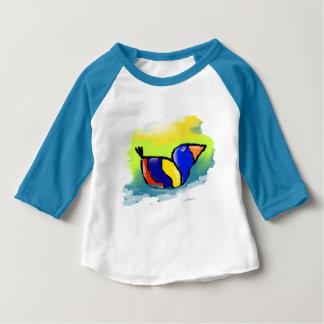 "Blue tee-shirt for baby, raglan sleeves, ""Duck "" Baby T-Shirt"