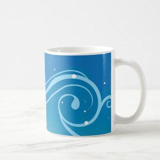 blue theme basic white mug