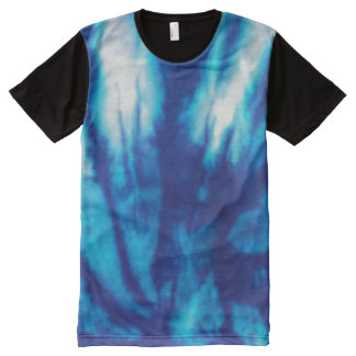 Blue Tie Dye All-Over Print T-Shirt