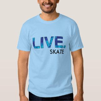 blue tie dye live, SKATE T Shirts