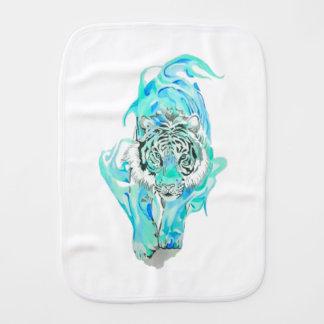blue tiger burp cloth