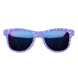 Blue Tiger Stripes Canvas Look Sunglasses
