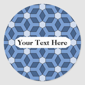Blue Tiled Hex Sticker