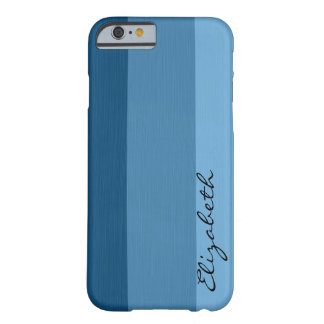 Blue Tones Stripes Background Barely There iPhone 6 Case