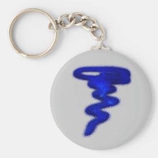 Blue Tornado Key Ring