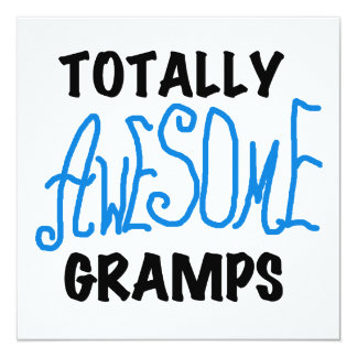 Blue Totally Awesome Gramps T-shirts and Gifts Card