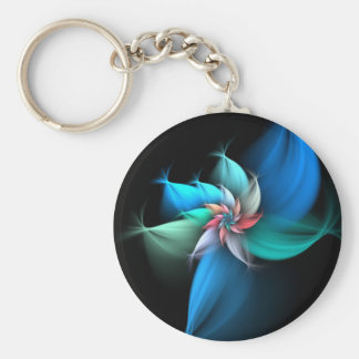 Blue Touch Basic Round Button Key Ring