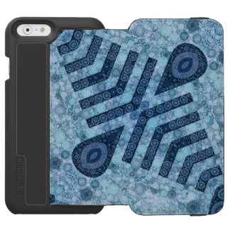 Blue Turquoise Abstract Incipio Watson™ iPhone 6 Wallet Case