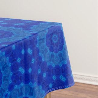 Blue Turquoise Mandala Flower Art Geometry Tablecloth