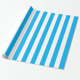 Blue Vertical Stripes Wrapping Paper