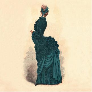 Blue Victorian Fashion Dress Photo Cut Out