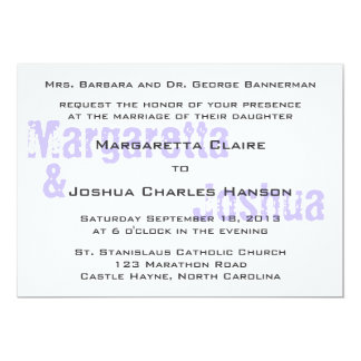 Blue Vintage Brick Graffiti Wedding Invitation