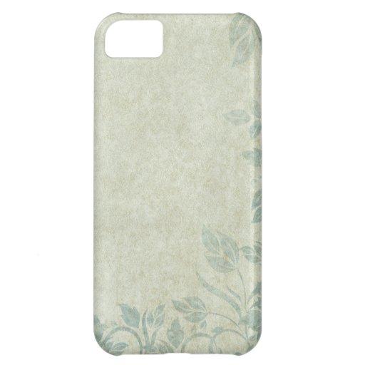Blue Vintage Floral Vine Wedding Cover For iPhone 5C