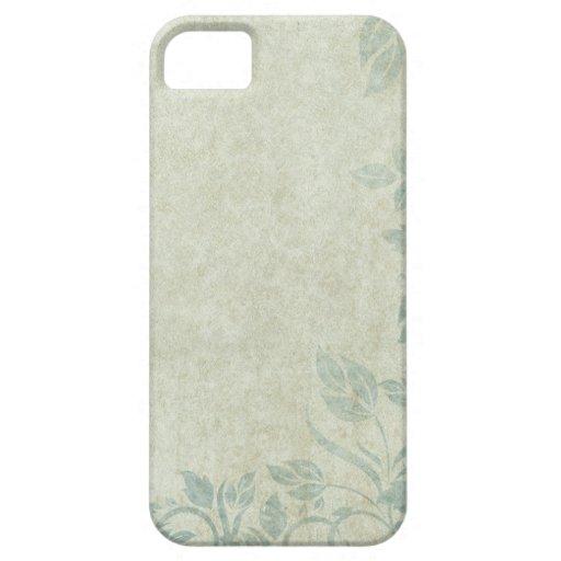 Blue Vintage Floral Vine Wedding iPhone 5 Cases