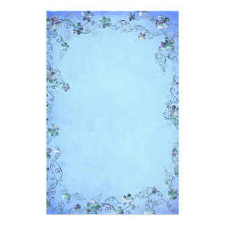 Blue Vintage Floral Wedding Stationery