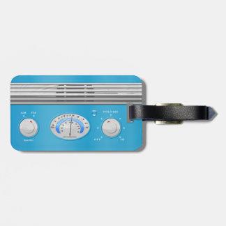 Blue Vintage Radio Luggage Tag