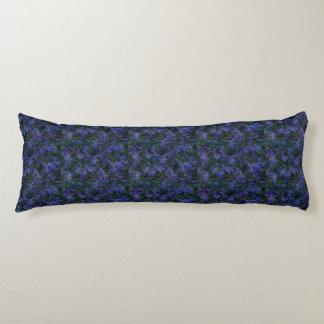 Blue Violet Garden Body Pillow