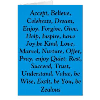 blue virtues card