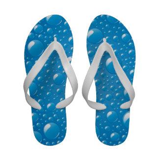 Blue Water Bubbles Sandals