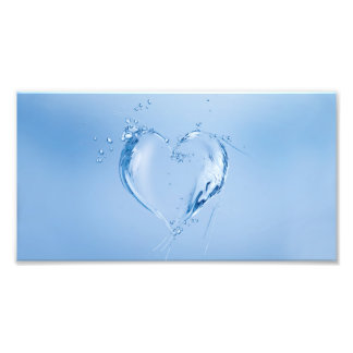 Blue Water Heart Art Photo