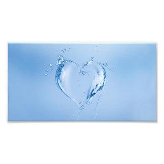 Blue Water Heart Art Photo