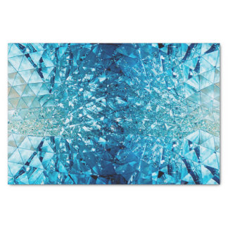 Blue water in cristals tissue paper