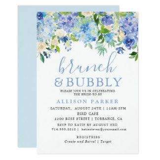 Blue Watercolor Hydrangea Brunch & Bubbly Cards