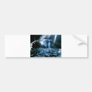 Blue Waterfall Bumper Stickers