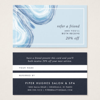 Blue Wave Geode | Referral Business Card