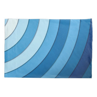 Blue Waves Pastel Abstract Stripes Pattern Pillowcase